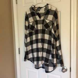 Merona Black and White Flannel